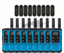 Motorola Talkabout T100TP Walkie Talkie 9 Pack Set Two Way Radios Blue Brand New