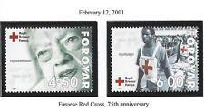 "FAROE ISLANDS  #393--394  MNH  2001 ""RED CROSS, 75th ANNIV."""
