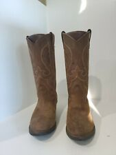 SHYANNE Womens Brown Leather Western Boots Size 7.5 M