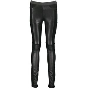 HERVE LEGER Paz Leather Pant Leggings - Black - XS  - £2,754