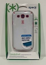 Speck CandyShell Multi Impact Case For Samsung Galaxy S3 III White/Raspberry