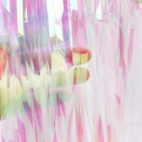 Rainbow Color Metallic Foil Fringe Shiny Rain Curtain Tinsel Wedding Party Decor