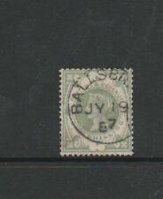 GB QV 1887 Jubilee 1/- Green cds Used SG 211