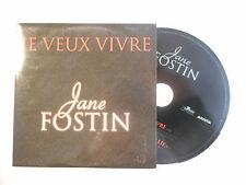 JANE FOSTIN : JE VEUX VIVRE ♦ CD SINGLE PORT GRATUIT ♦