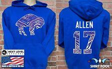 Buffalo Bills Josh Allen *Bills Mafia* Double Sided Jersey Hoodie