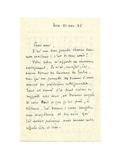 Roger MARTIN DU GARD / Lettre autographe signée / Chateau du Tertre / Juridique