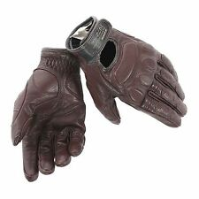 Vintage Leather Gloves Summer Dainese Blackjack Dark Brown L