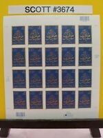 Scott # 3674-EID GREETINGS-Sheet of (20) 37 Cent Stamps
