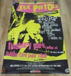 Sex Pistols The Filthy Lucre Tour UK 1996 Billboard Promo Poster Rare