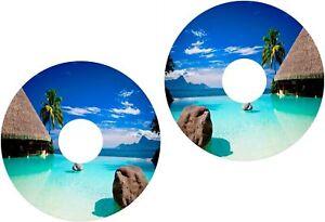 Wheelchair Spoke Guard Skins Exotic Ocean Beach View Mobility Sticker 349