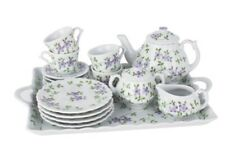New Andrea by Sadek Violets Child Teaset with Tray 18 Piece Set *Free Shipping*