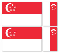 4 X SINGAPORE VINYL CAR VAN IPAD LAPTOP STICKER BRITISH