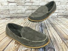 LL BEAN Gray Suede Mountain Moccasin Slippers Men's 11 M $79.00