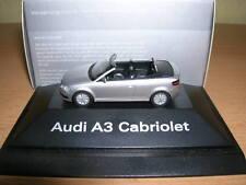 Herpa Audi A3/A 3 Cabriolet (8P) Ice Silver, 1:87 H0 Car Car