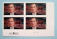 Sc # 3882 ~ Plate # Block ~ 37 cent Moss Hart Issue (bl17)