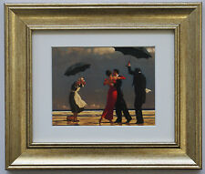 The Singing Butler by Jack Vettriano Framed & Mounted Art Print Gold