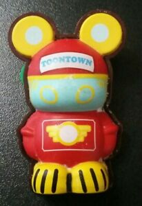2010 Disney Vinylmation 3D Mickey Mouse Toontown Trading Pin Badge Jolly Trolley