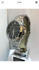 Citizen Men's Eco-Drive Chronograph Silver Tone Stainless Steel Bracelet Watch