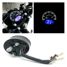 LCD lights Odometer Speedometer Tachometer 12000RPM For 2 4 Cylinder Motorcycle