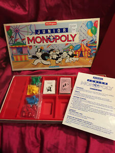 Vintage Monopoly Junior Kids Family Board Game By Waddingtons 1991 Rare Longbox
