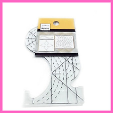 Plastic Ruler Pro Spine Small Quilters Groove Embroidery Sewing Machine Tools