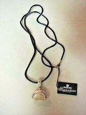 Signed Swan Swarovski Gold Tone and Crystal Purse Necklace w/ Tags 465