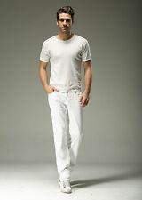 FOX JEANS Men's Marvin Regular Fit Straight White Denim Mens Jeans SIZE 34