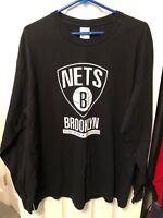 Brooklyn Nets Long Sleeve Shirt XL Extra Large Rhythm Of The Night 2/5/13 Gildan