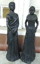 2 African Masai Women Leonardo Collection Statues A/F