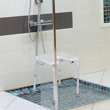 7-Level Adjustable Aluminum Bath Stool Spa Shower Chair w/ Non-Slip Feet