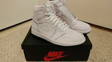 Nike Air Jordan 1 Retro High OG Size 10 Perforated Perf white black laces NEW 3