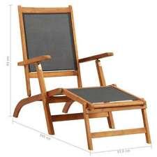 Sedia a sdraio pieghevole e tavolino in legno di acacia