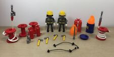Playmobil Firemen Fireman Pompier 3882 3883 Lot Axe Hose Tube Barrel