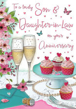 Wedding Anniversary Card - Son & Daughter in Law Quality NEW