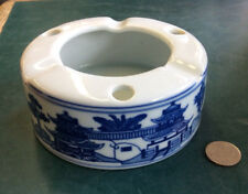 """Vintage Blue Willow 3-3/4"""" Round Ashtray. Made In China (VT)"""