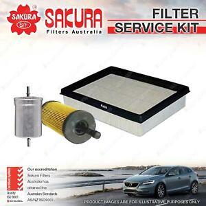 Sakura Oil Air Fuel Filter Service Kit for Audi TT 8N 3.2L 184KW V6 01/05-10/06