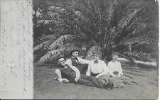 two couples in Pasadena CA nice real photo postcard postally used in 1905