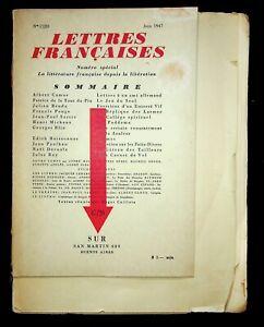 🌓 RARISSIME gd papier gdes marges revue LETTRES FRANÇAISES juin 1947 Libération