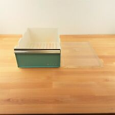Vintage Blue Plastic Refrigerator Meat Drawer with Lid- Westinghouse