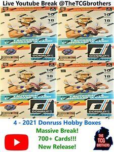 Arizona Cardinals Break 809 2021 4x Donruss Hobby Box Football Rated Rookie