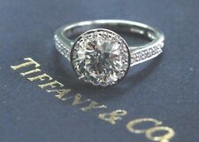 Tiffany & Co Platinum 1.23ct GVVS2 +.22ct Accent Diamond EMBRACE Engagement Ring