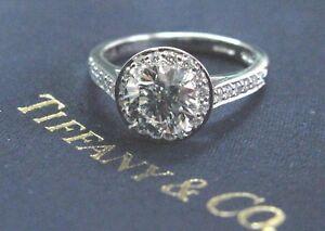 Tiffany & Co Embrace Round Diamond Engagement Ring Platinum 950 1.23Ct 22Ct