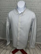 Daniel Cremieux Men's Cotton Casual Shirt XL XLarge Stripes French Blue