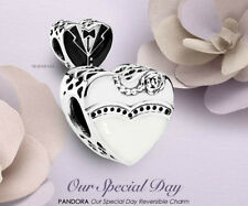 GENUINE PANDORA OUR SPECIAL DAY BRIDE GROOM WEDDING ANNIVERSARY CHARM + POUCH