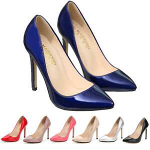Womens Ladies Black High Heel Court Shoes Smart Formal Occasion Party Shoes Size
