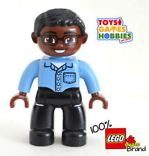 *NEW* LEGO DUPLO Boy Man Figure Blue Shirt Person Family Dad House Pocket Adult