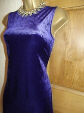 Lovely ❤️ New Look stretch Cadbury Purple velvet party evening dress size 14