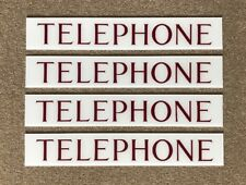 K6 Red Telephone Box Telephone Transom Signs