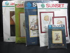 Sunset Counted Cross Stitch Kits - You Pick - Read Listing