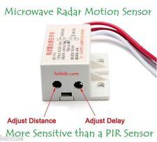 E54 Adjustable Microwave Radar Motion Sensor Detector Solid State Switch 220V AC